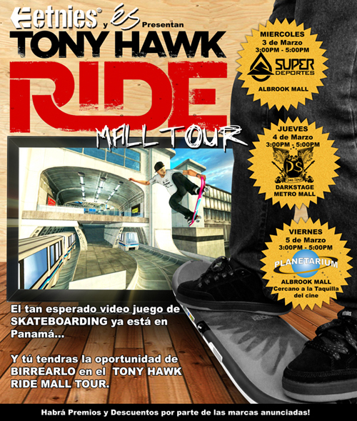 Etnies y ES presentan Tony Hawk Ride Mall Tour