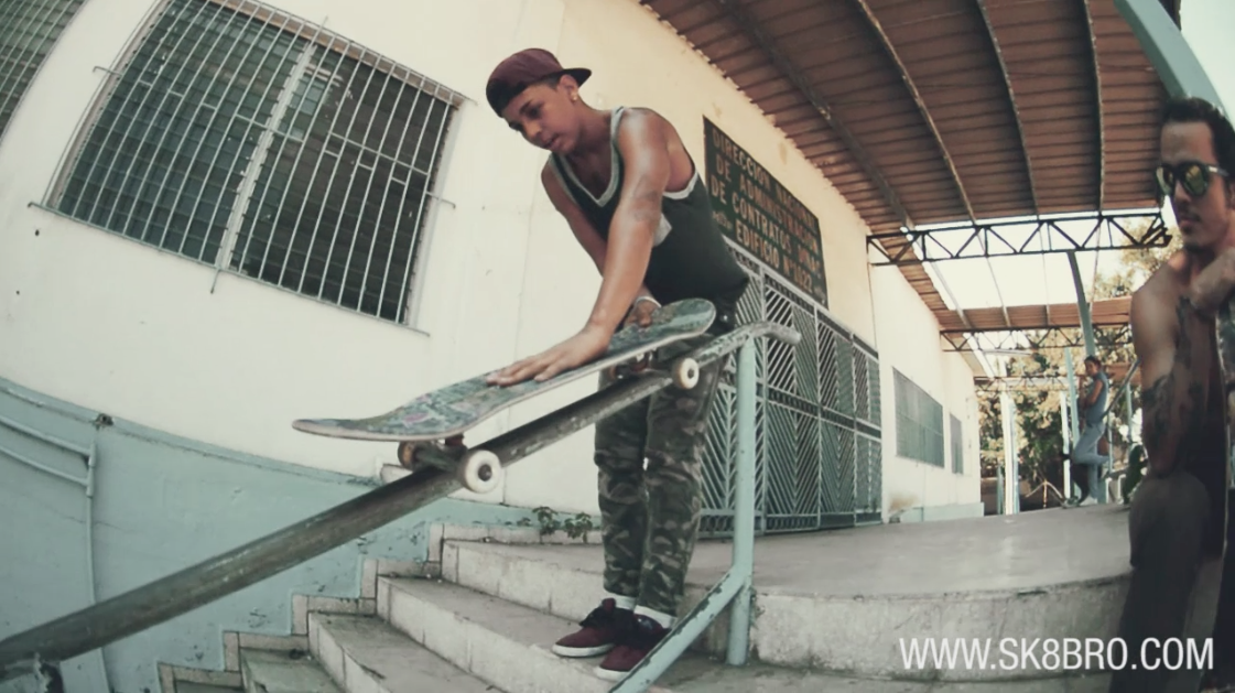 Angello Morales - trick tips - backside 50-50 grind