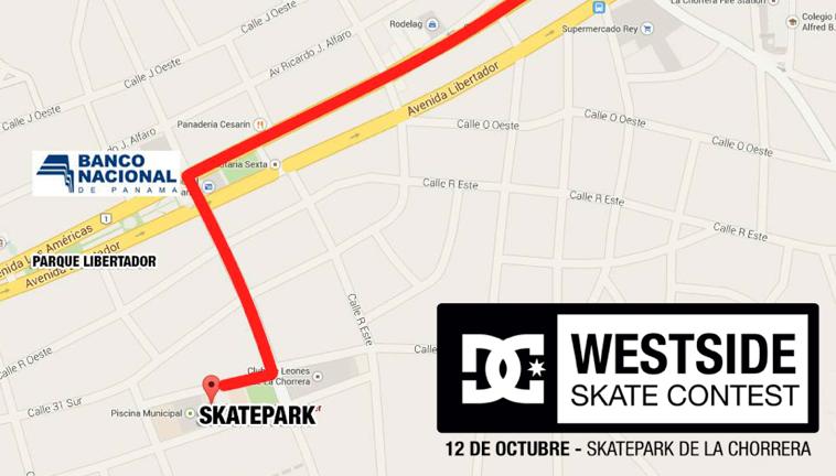 Como llegar al skatepark de La Chorrera - Westside Skatepark