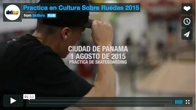 Práctica Skateboarding en Cultura Sobre Ruedas 2015