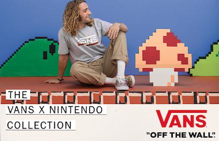 Vans se enciende con una nueva colección con Nintendo!